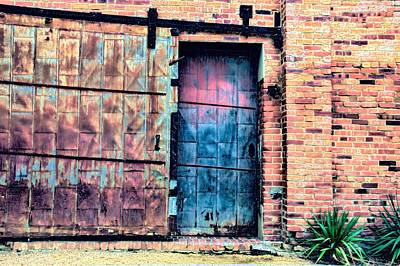 A Rusty Loading Dock Door Poster by Diana Mary Sharpton