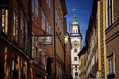A Salzburg Street  Poster