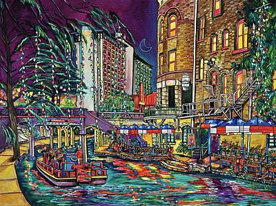 Poster featuring the painting A San Antonio Christmas by Patti Schermerhorn