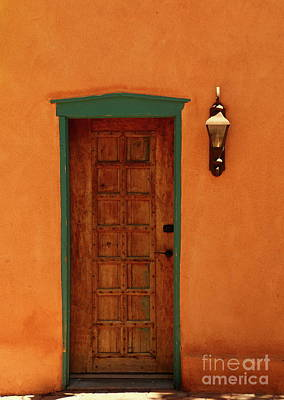 A Santa Fe Door Poster by Christiane Schulze Art And Photography