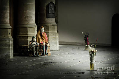 Poster featuring the photograph A Scene In Oude Kerk Amsterdam by RicardMN Photography
