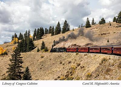 A Scenic Railroad Steam Train, Near Antonito In Conejos County In Colorado Poster by Carol M Highsmith
