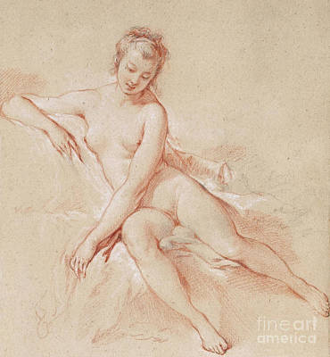 A Seated Female Nude  Poster