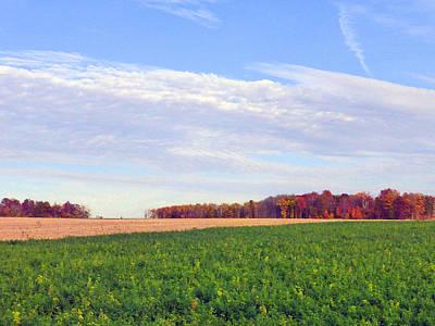 A Serene Autumn Landscape 2015 Poster by Tina M Wenger