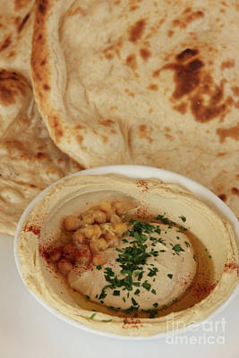 A Serving Of Humus Poster by PhotoStock-Israel