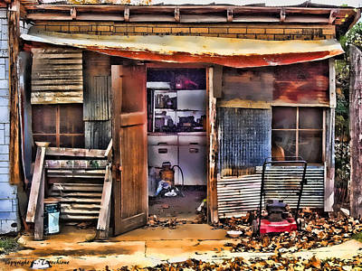 Poster featuring the photograph A Shack In Harrison by Kathy Tarochione