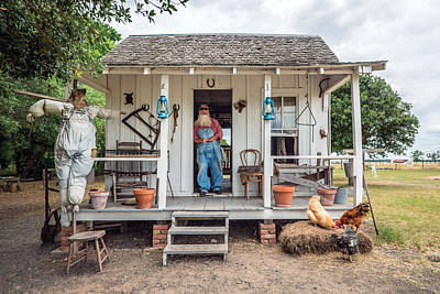 A Sharecropper's Cabin On The George Ranch Historical Park Poster