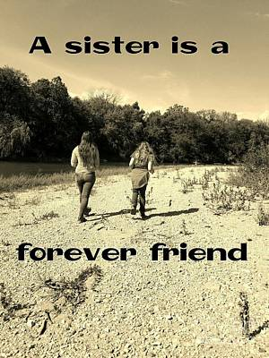 A Sister Is A Forever Friend Poster by Scott D Van Osdol