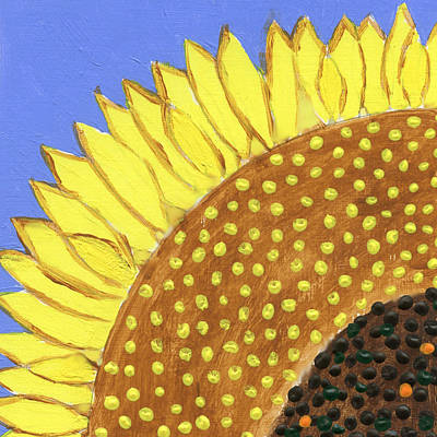 Poster featuring the painting A Slice Of Sunflower by Deborah Boyd