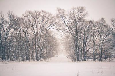 Poster featuring the photograph A Snowy Monday by Viviana  Nadowski