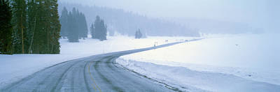A Snowy Route 14, Near Cedar Breaks Poster