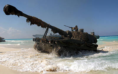 A Spanish Army M109a5 155mm Poster by Stocktrek Images