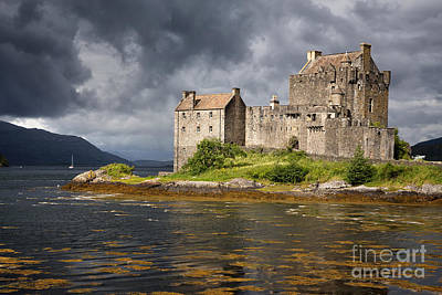 A Storm Brews Over Eilean Donan Castle Poster by Jane Rix
