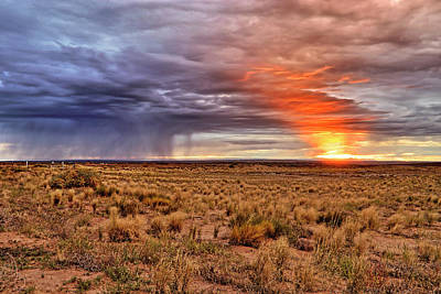 A Stormy New Mexico Sunset - Storm - Landscape Poster by Jason Politte