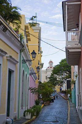 A Street In Colorful Old San Juan Poster by Taylor S. Kennedy
