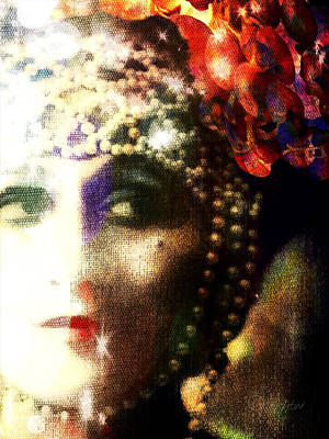 Poster featuring the digital art A String Of Pearls by Delight Worthyn