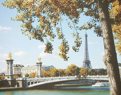 Poster featuring the photograph A Stroll Along The River Seine In Paris by Ivy Ho