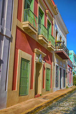A Stroll Through San Juan Poster by Mariola Bitner