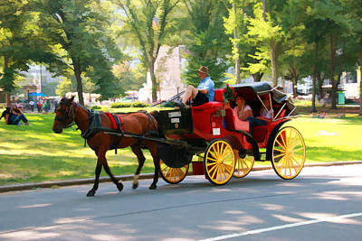 A Summer Carriage Ride Poster by Allen Beatty