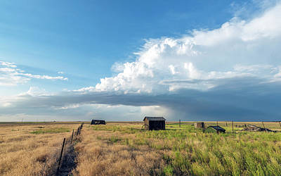 A Summer Storm In Eastern Colorado Poster