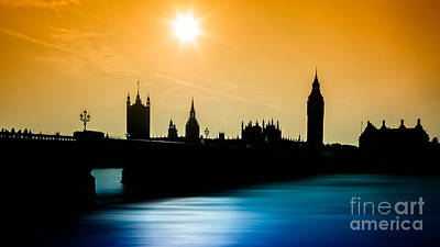 A Sunny Shape Poster by Giuseppe Torre