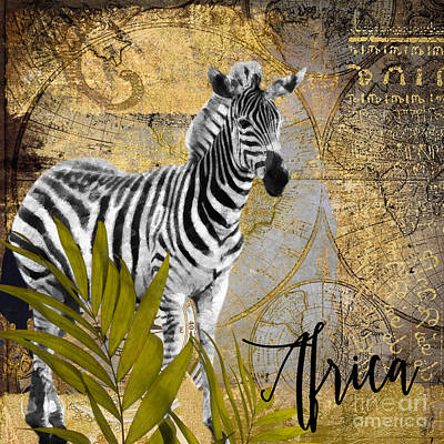 A Taste Of Africa Zebra Poster by Mindy Sommers
