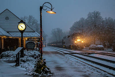 A Train Ride In The Snow Poster