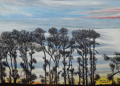 Poster featuring the painting A Treeline Silhouette by Marilyn  McNish