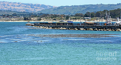 Poster featuring the photograph A Tropical Day At The Monterey Coast Guard Pier by Susan Wiedmann