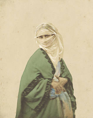 A Turkish Woman In Outdoor Dress Poster by Celestial Images