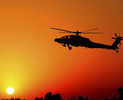 A U.s. Army A-64 Apache Helicopter Poster