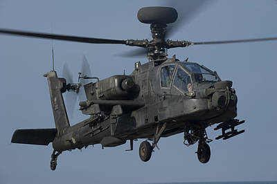 A U.s. Army Ah-64 Apache Helicopter Poster by Stocktrek Images