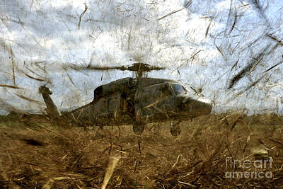 A U.s. Navy Hh-60 Seahawk Stirs Poster