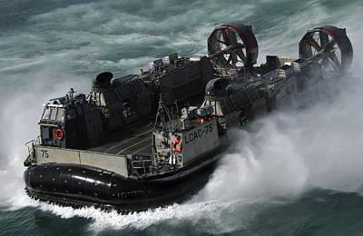 A U.s. Navy Landing Craft Air Cushion Poster
