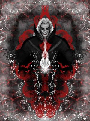 A Vampire Quest Fantasy Art Poster
