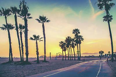 A Venice Beach Sunset Poster by Az Jackson