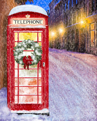Poster featuring the mixed media A Very British Christmas by Mark Tisdale