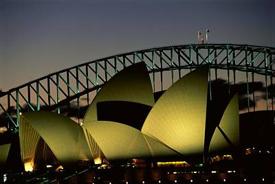 A View At Night Of The Famed Sydney Poster