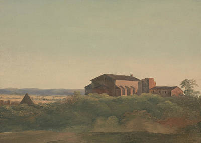 A View Of The Church Of S. Sabina And The Pyramid Of Cestius, Rome Poster