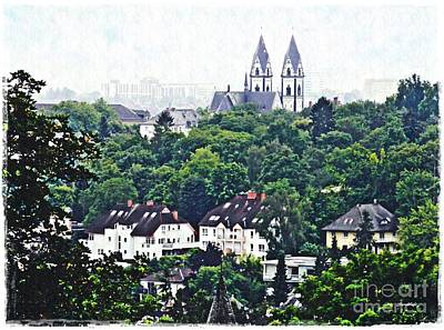 A View Of Wiesbaden Poster by Sarah Loft