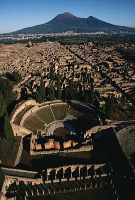 A View Over Pompeii Toward Mount Poster