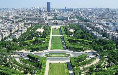 A View Paris France Eiffel Tower Art Poster by Reid Callaway