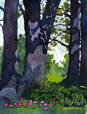 A View Through The Trees Watercolor Batik Poster
