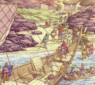 A Viking Raid Poster by Pat Nicolle