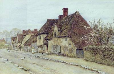 A Village Street Kent Poster by Helen Allingham