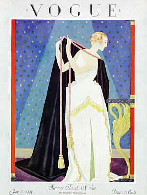 A Vintage Vogue Magazine Cover From 1924 Poster by George Wolfe Plank