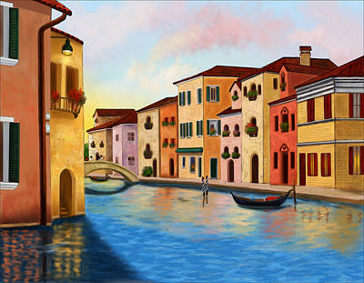 A Vision Of Venice Poster by Sena Wilson