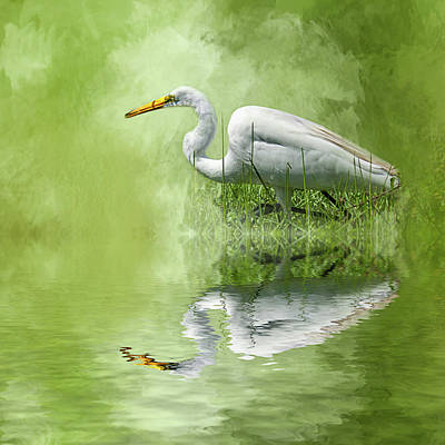 A Walk In The Marsh Poster by Cyndy Doty