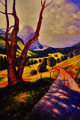 A Walk Through The Mountains Poster by Emery Franklin