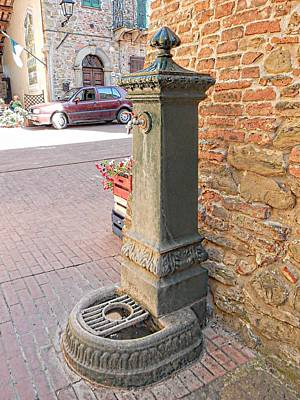 A Water Fountain Paciano Poster by Dorothy Berry-Lound